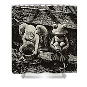 Angel And Frog Shower Curtain