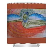 Angel Blue Shower Curtain