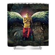 Angel Body Art Shower Curtain