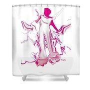 Woman Fashion Brand Shower Curtain