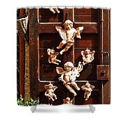 Angel Door, Assisi Italy Shower Curtain