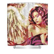 Angel Fragmented Shower Curtain