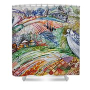 Angel From Jacob's Ladder Shower Curtain
