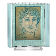 Angel Greetings Shower Curtain