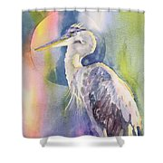 Angel Heron Shower Curtain