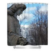 Angel Ice Shower Curtain