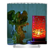 Angel In Candle Light Shower Curtain