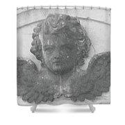 Angel In Grey Shower Curtain