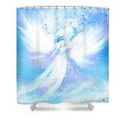 Angel In Hotty Totty In Thick Paint Shower Curtain