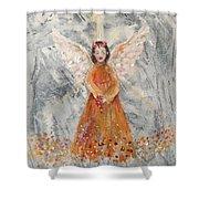 Angel In Orange Shower Curtain