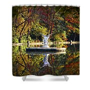 Angel In The Lake - St. Mary's Ambler Shower Curtain