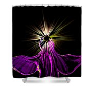Angel In The Night Shower Curtain