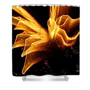 Angel In The Sky Fireworks Shower Curtain