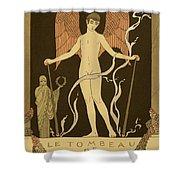 Angel Le Tombeau De Bilitis Shower Curtain