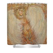 Angel Loves You  Shower Curtain