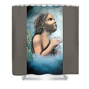 Angel Of Faith Shower Curtain