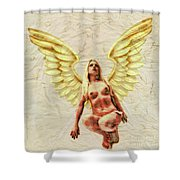 Angel Of Love By Mb Shower Curtain