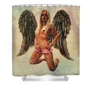 Angel Of Lust By Mb Shower Curtain