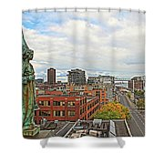 Angel Of Old Montreal Shower Curtain