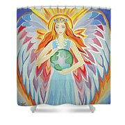 Angel Of Peace Shower Curtain