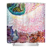 Angel Of Protection  Shower Curtain