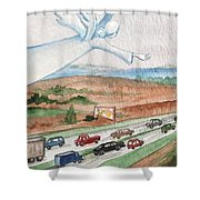 Angel Of Safety Shower Curtain