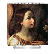 Angel Of The Annunciation Shower Curtain