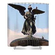 Angel Of The Waters Pigeons Shower Curtain