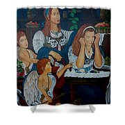 Angel On Clouds Shower Curtain