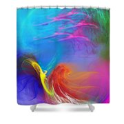 Angel On Lilly Pond Shower Curtain