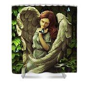 Angel Oriphiel Shower Curtain