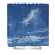 Angel Over Two Notch Road Shower Curtain