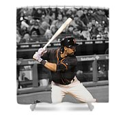 Angel Pagan Shower Curtain