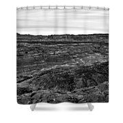 Angel Peak Badlands, Bloomfield, New Mexico, Illuminated By A Cl Shower Curtain
