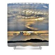 Angel Ray Sunset Shower Curtain
