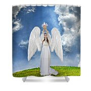 Angel Releasing A Dove Shower Curtain
