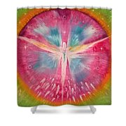 Angel Shining On Your Path Shower Curtain