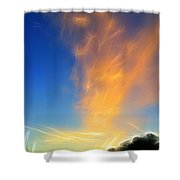 Angel Sparks Shower Curtain