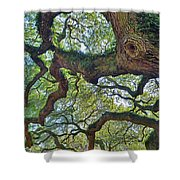 Angel Tree Abstract Shower Curtain