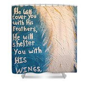 Angel Wing Psalms 91 4 Shower Curtain