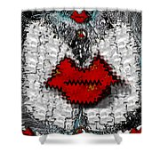 Angel Wings Brings Love And Peace Shower Curtain