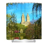 Perfect Morning In The Park Shower Curtain