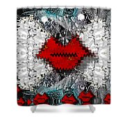 Angel Wings Comes In Love Shower Curtain