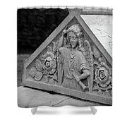 Angel With Horn Carving Shower Curtain