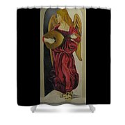 Angel With Lute Shower Curtain