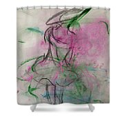 Angel With Pink Wings Shower Curtain