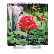 Angel With Roses 2 Shower Curtain