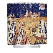 Angel With Shepherds Shower Curtain