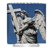 Angel With The Cross Shower Curtain
