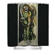 Angel With Violin Shower Curtain